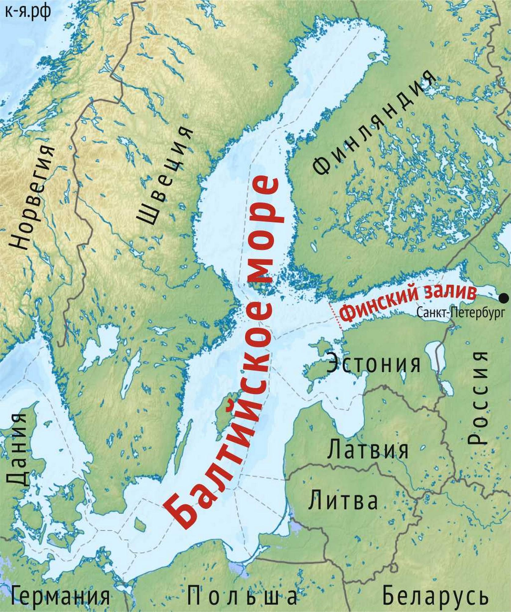 Карта балтийского моря картинки