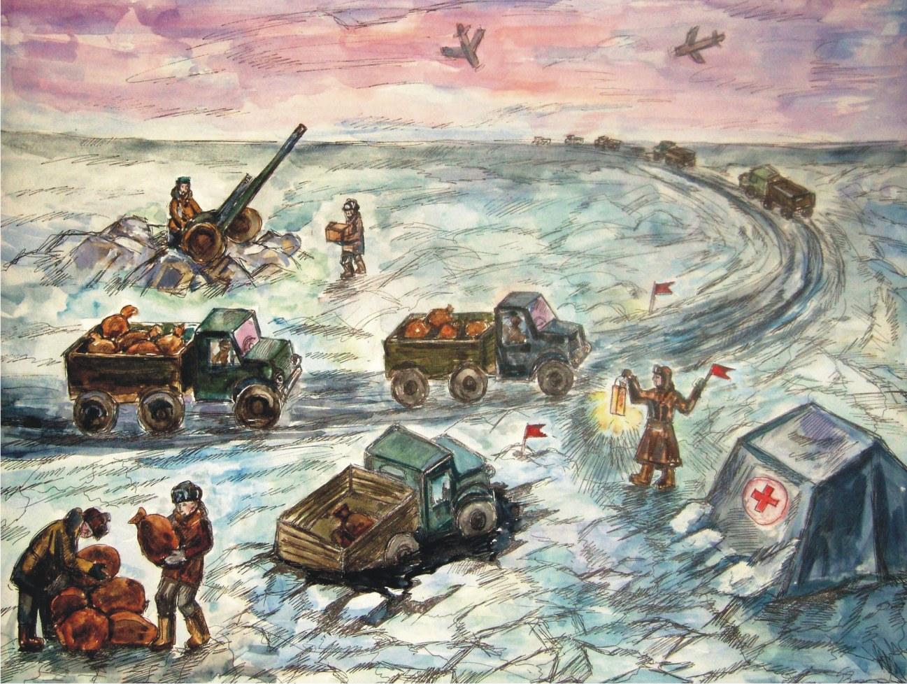 битва за ленинград раскраска котик
