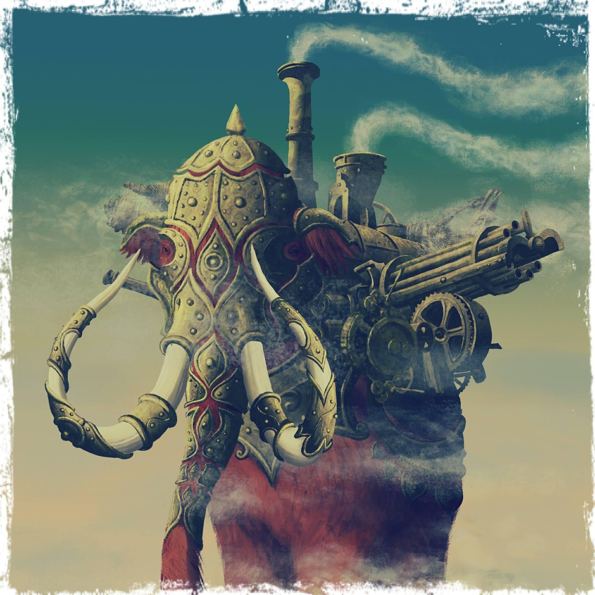 Рисунок Олега Добровольского для программы «Родина слонов»