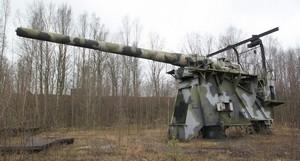 305-мм орудие на Ржевском полигоне