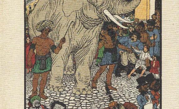 Слон и Моська. 1913 Художник В. Тиморев