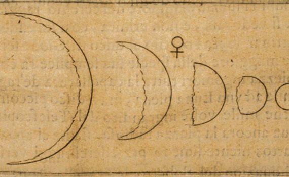 Зарисовка фаз Венеры, сделанная Галилео Галилеем (Museum of Science, Florence).