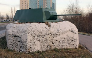 Огневая точка с башней танка «КВ-1»
