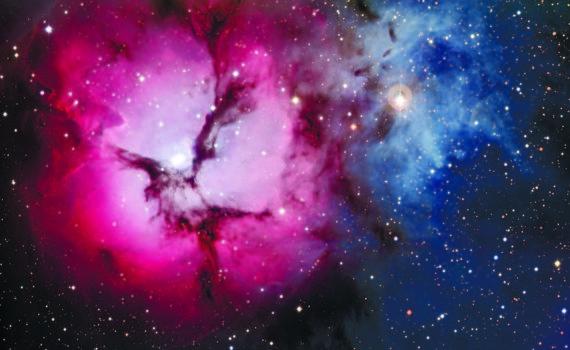 Тройная туманность в созвездии Стрельца – молодая область звёздообразования (ESO).