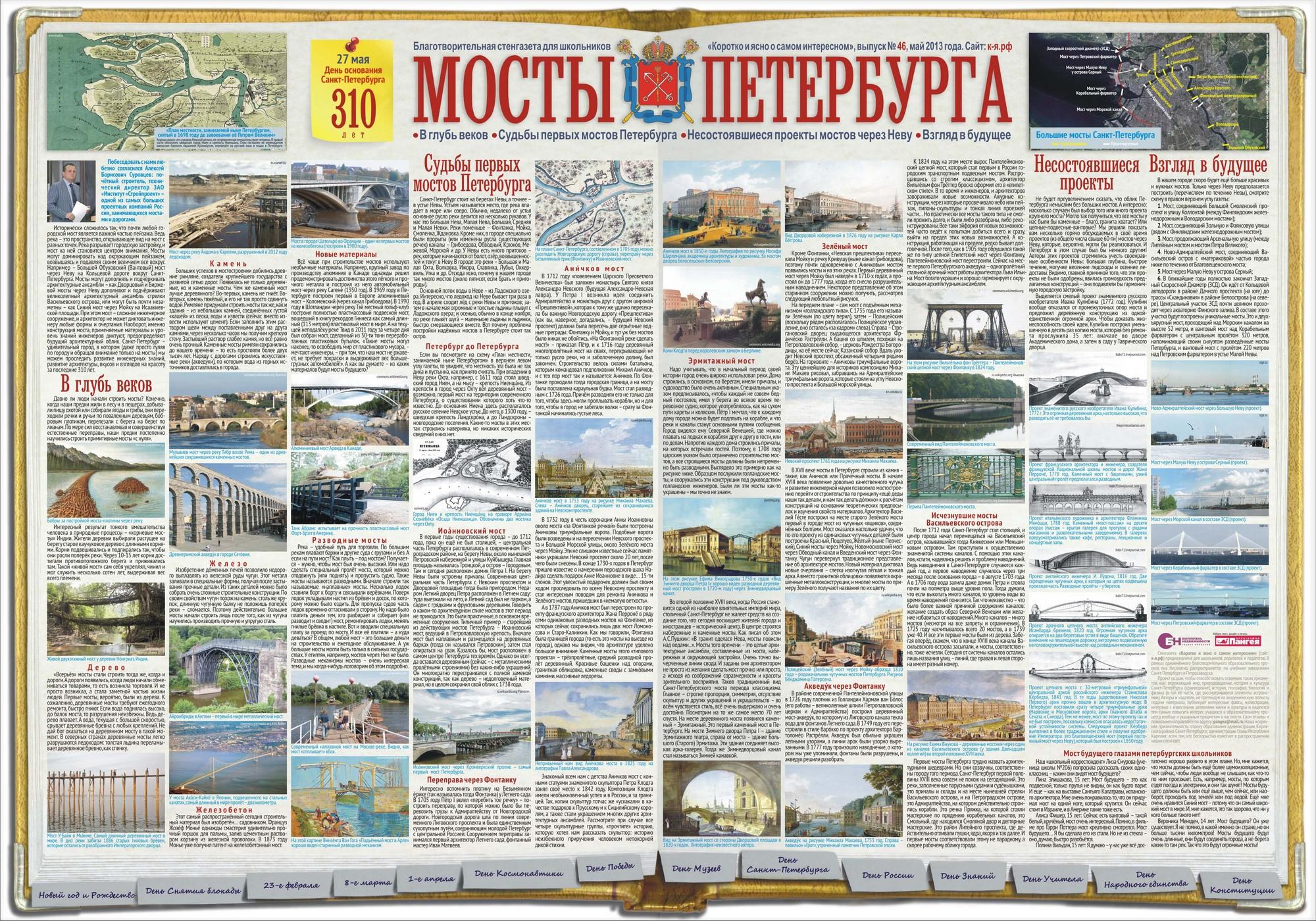 Стенгазета Мосты Петербурга