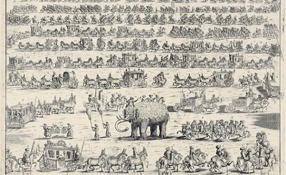 Персидское посольство со слоном