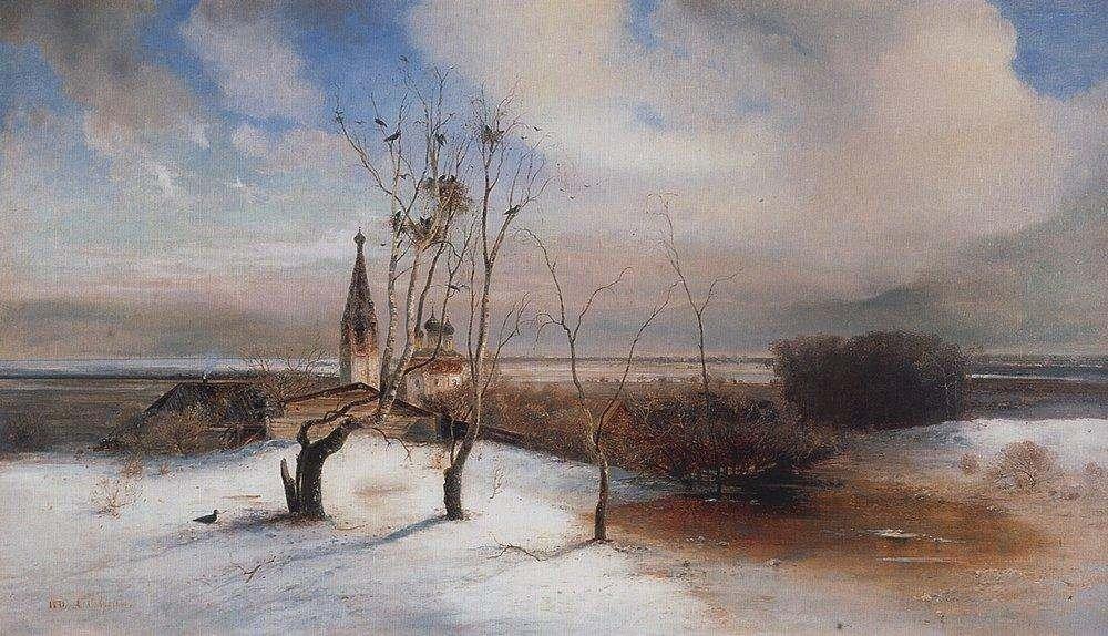 Алексей Кондратьевич Саврасов. «Весна. Грачи прилетели», 1872 год.