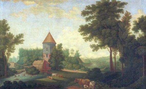 Мельница и башня Пиль в Павловске. С.Ф. Щедрин, 1792 г.