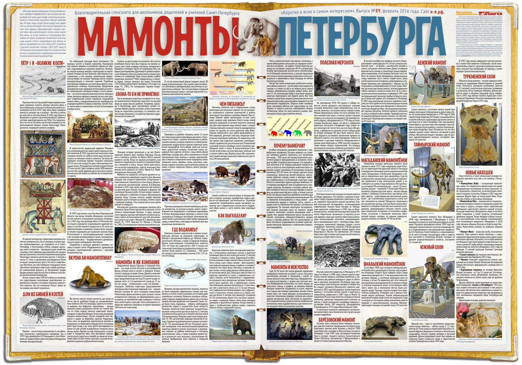 Стенгазета «Мамонты Петербурга»