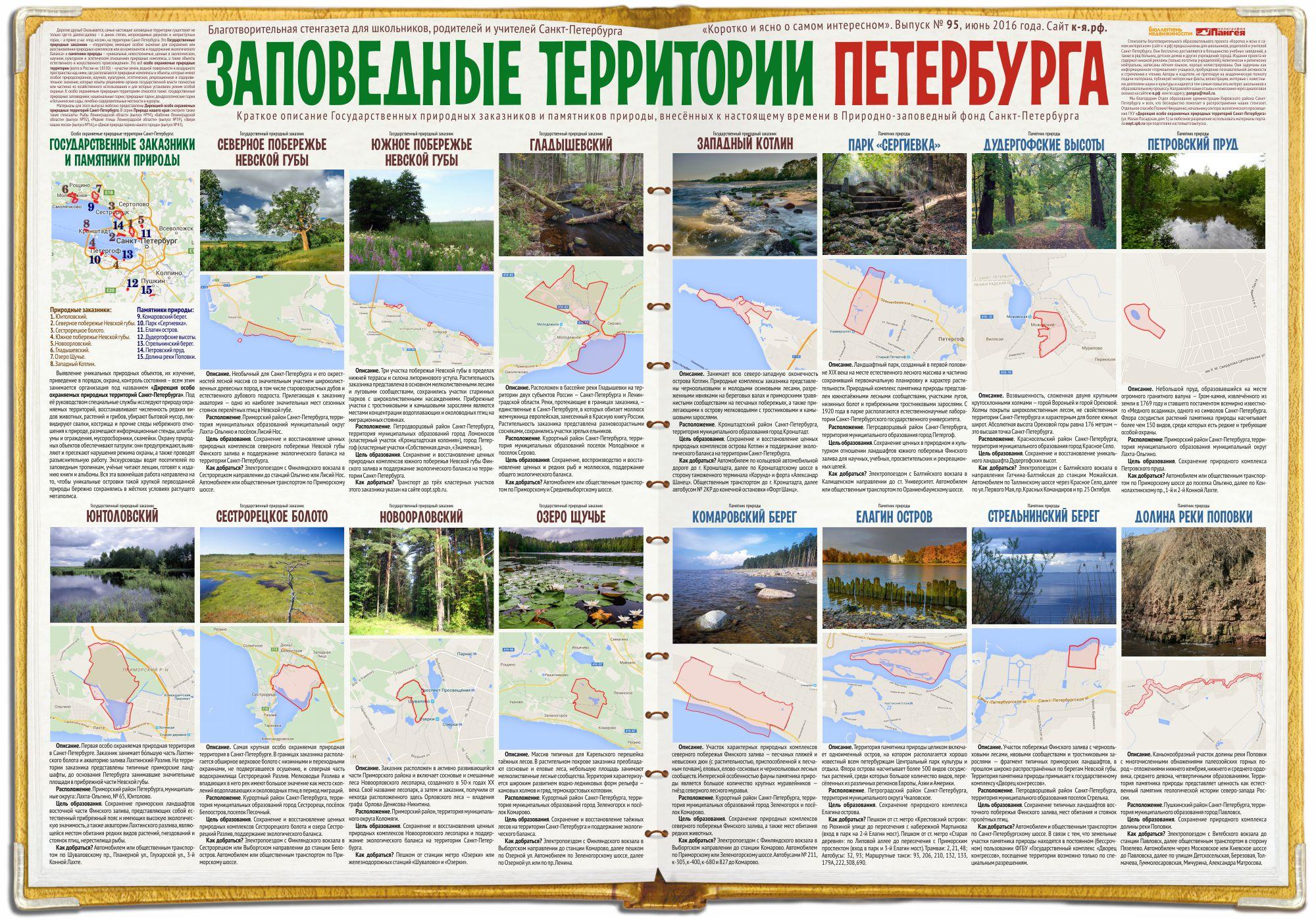 Стенгазета «Заповедные территории Петербурга»