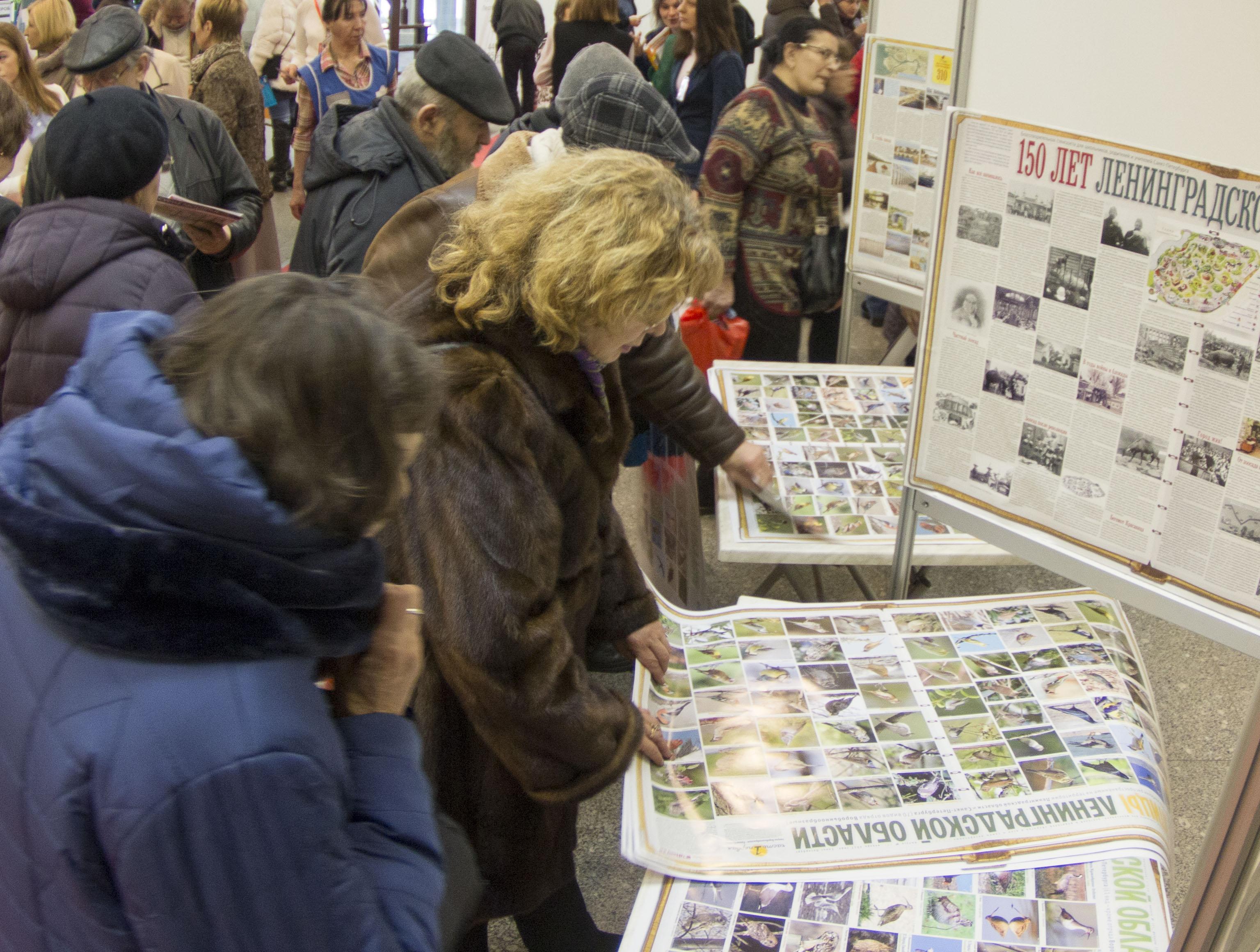 Раздача стенгазет на выставке Жилпроект-2017 в СКК