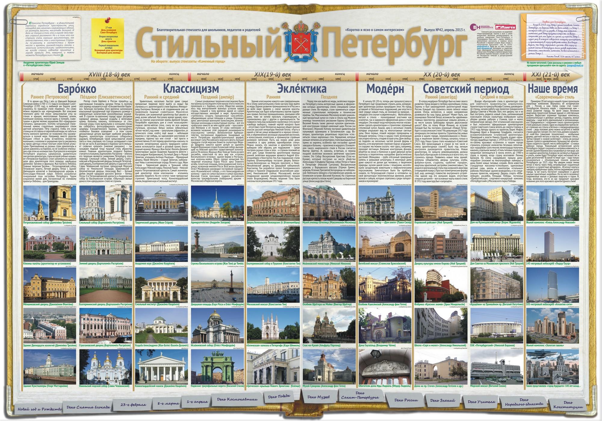 Стильный Петербург стенгазета